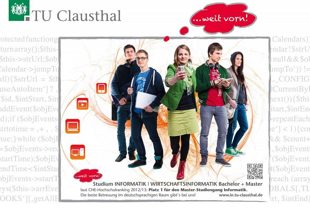 Plakat: Shooting für die TU Clausthal. Konzept/Gestaltung: Design Office Bad Harzburg.