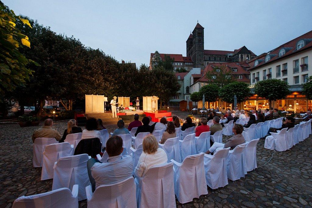 Theater im Hof des Hotels »Schlossmühle« in Quedlinburg