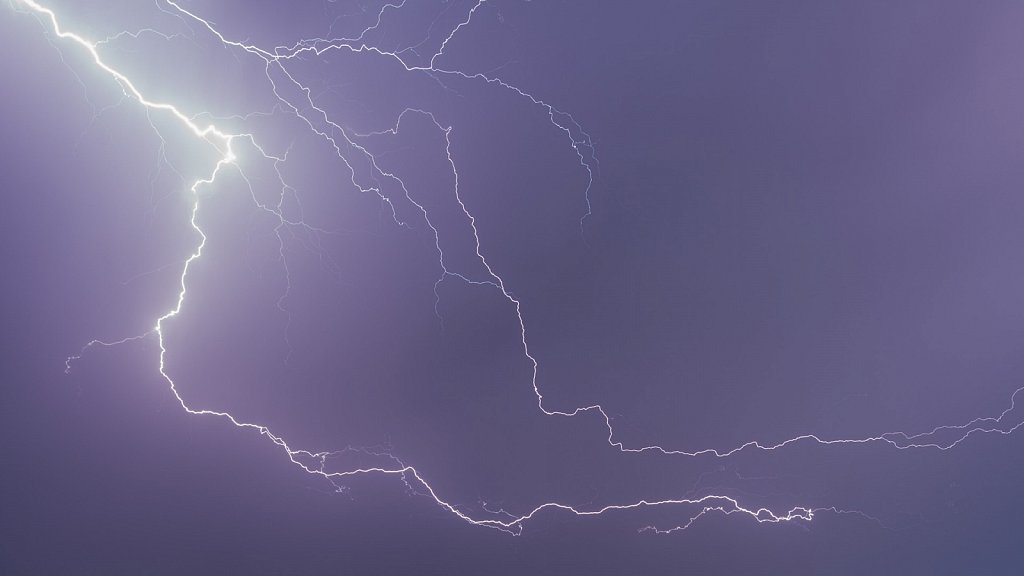 Blitze über Quedlinburg