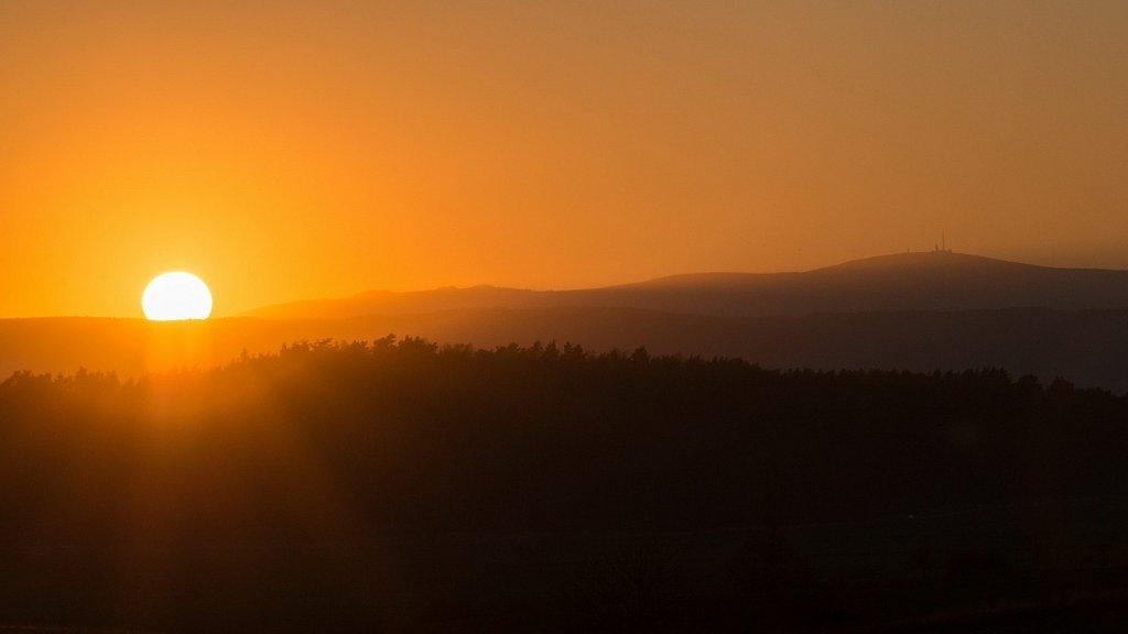 Sonnenuntergang mit Brocken